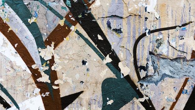 古い汚れた落書きストリートアートの背景 無料写真