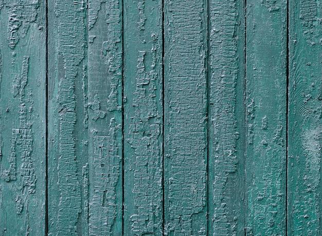 青い絵の具で漆塗りの木製テクスチャ 無料写真
