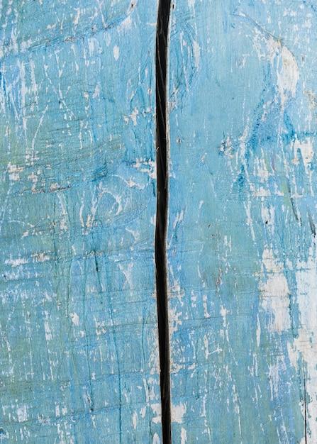 ライトブルー塗装の古い木製の質感 無料写真