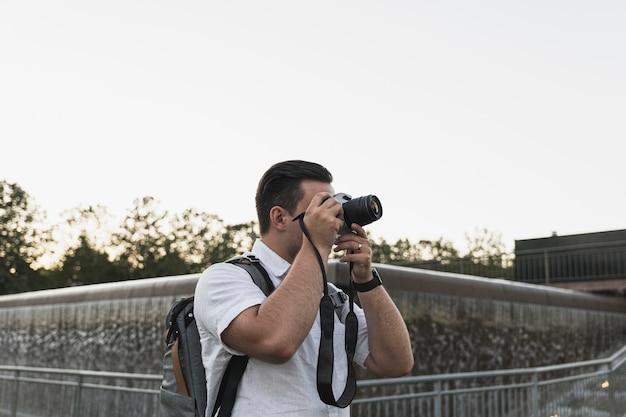 写真を撮るカメラで観光 無料写真