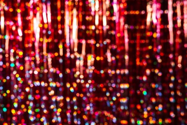 コピースペースでぼやけたカラフルな新年の背景 無料写真