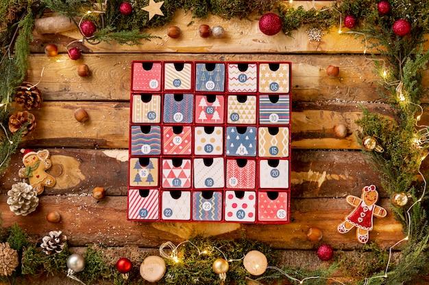 クリスマスのテーマ別ビューを持つフレーム 無料写真