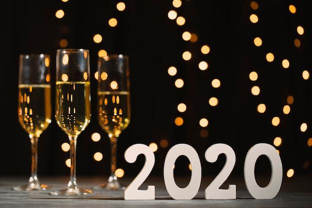 Новогодняя вечеринка с шампанским Бесплатные Фотографии