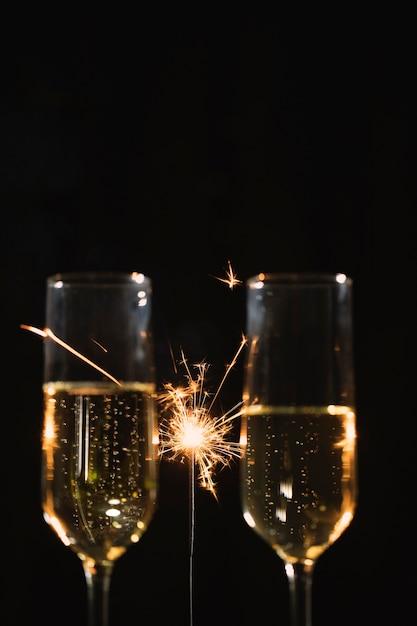 Бокалы с шампанским на вечеринке Бесплатные Фотографии