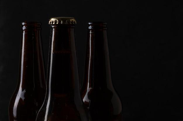 コピースペースビール瓶トップビュー 無料写真