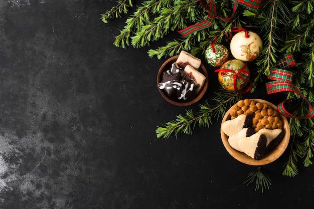 コピースペースでクリスマスグッズ 無料写真