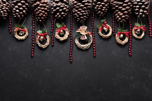 コピースペースでクリスマスの装飾 無料写真