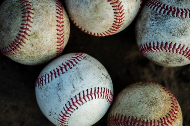 汚れた野球のクローズアップ 無料写真