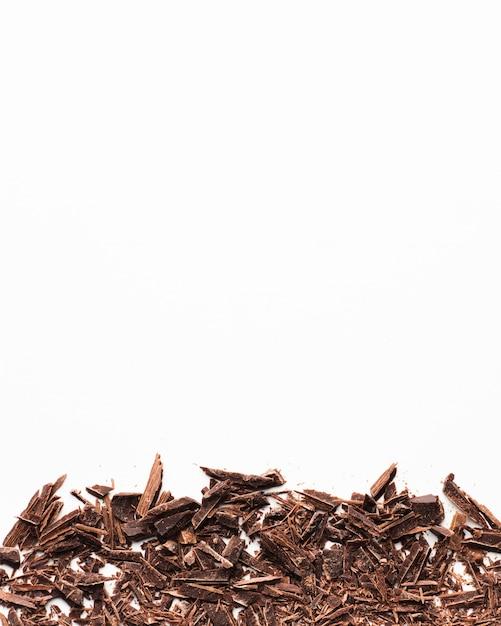 コピースペースでチョコレートの削りくず 無料写真