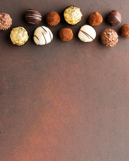おいしいチョコレートトリュフコピースペース 無料写真
