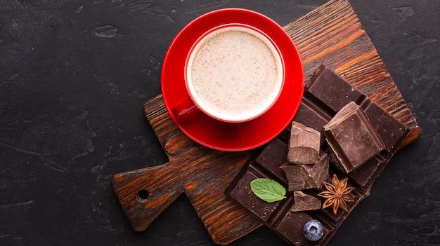 Шоколадный напиток в плоской кладке Бесплатные Фотографии