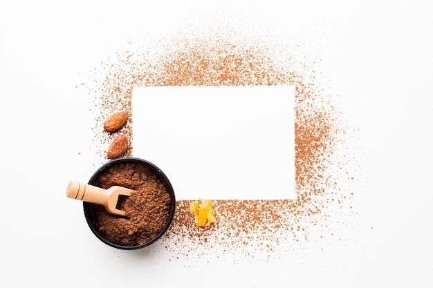 Пустая карточка с какао-порошком Бесплатные Фотографии