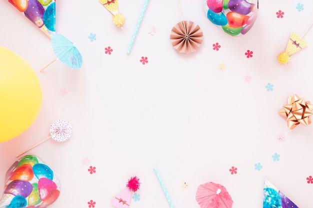 コピースペースでお祭りの装飾 無料写真