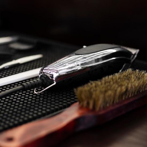 プロの理髪店の必需品のクローズアップ 無料写真
