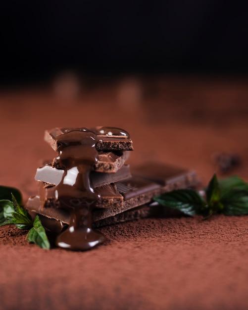 シロップ入りチョコレートバー 無料写真