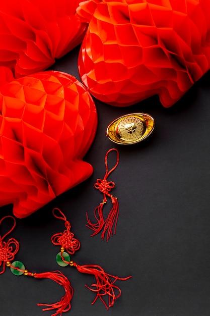 Фонари и подвески на китайский новый год Бесплатные Фотографии