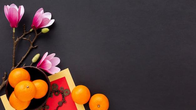Новый китайский год мандаринов и магнолии Бесплатные Фотографии