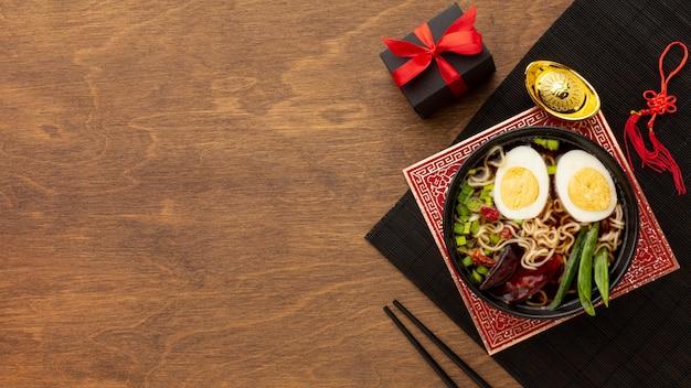 トップビュー中華料理 無料写真