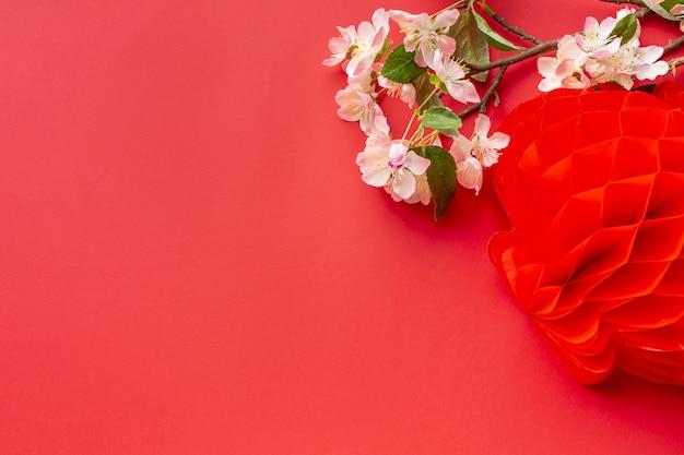 Китайский новый год вишни с фонарем Бесплатные Фотографии
