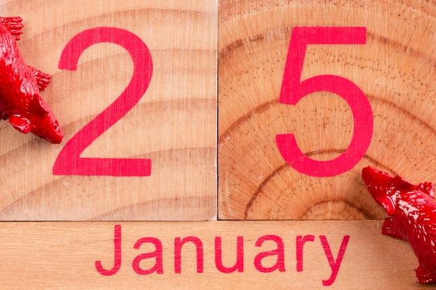 Январская дата на дереве для китайского нового года Бесплатные Фотографии