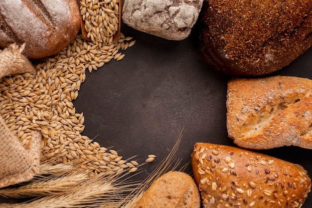 小麦の種とペストリー 無料写真