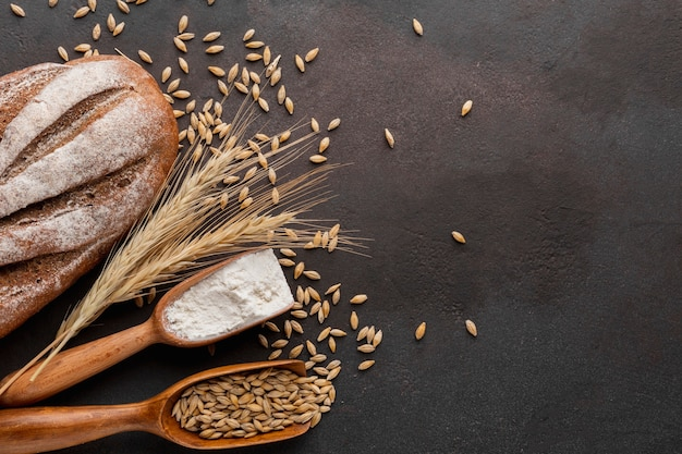 Семена пшеницы и хлеб Бесплатные Фотографии