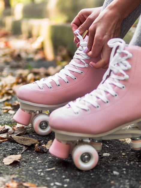 多重葉を持つローラースケートのクローズアップ 無料写真