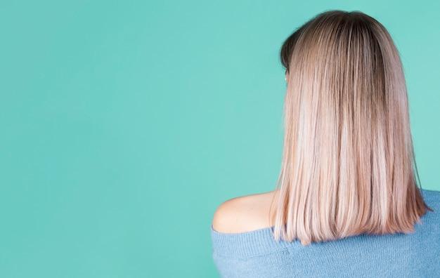 Вид сзади волосы с копией пространства Бесплатные Фотографии