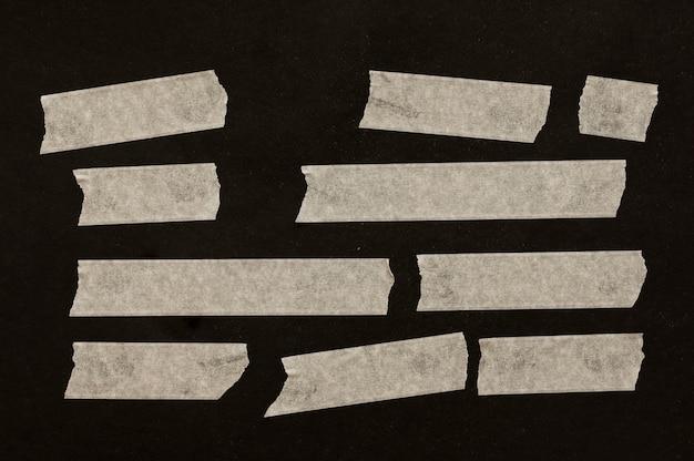 Ленты разных размеров на черном фоне Бесплатные Фотографии