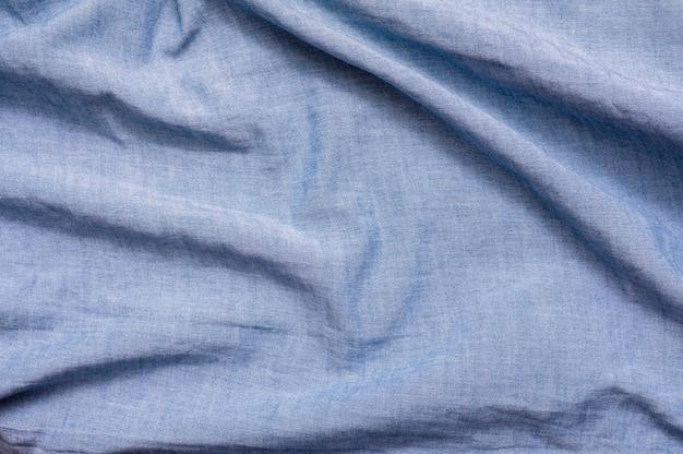 青い布のクローズアップの背景 無料写真