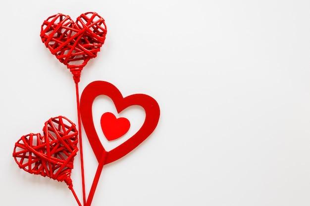 コピースペースでバレンタインデーハート 無料写真