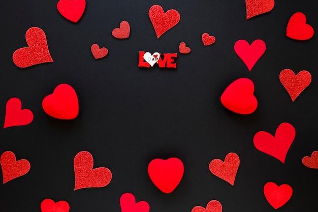 バレンタインハートフレーム 無料写真