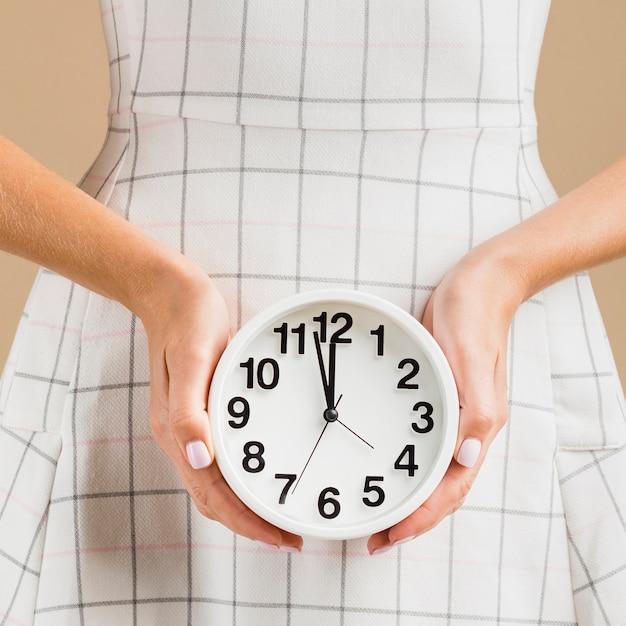 年中時計のクローズアップ時間 無料写真