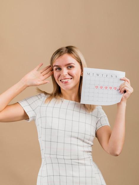 Портрет смайлик с календарем Бесплатные Фотографии