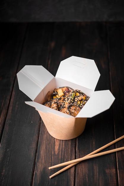 ゴマの麺の箱 無料写真