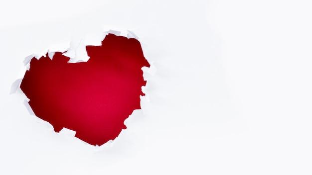 День святого валентина разрыв сердца с копией пространства Бесплатные Фотографии