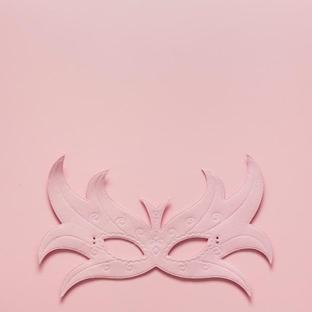 コピースペースでカーニバルピンクマスク 無料写真