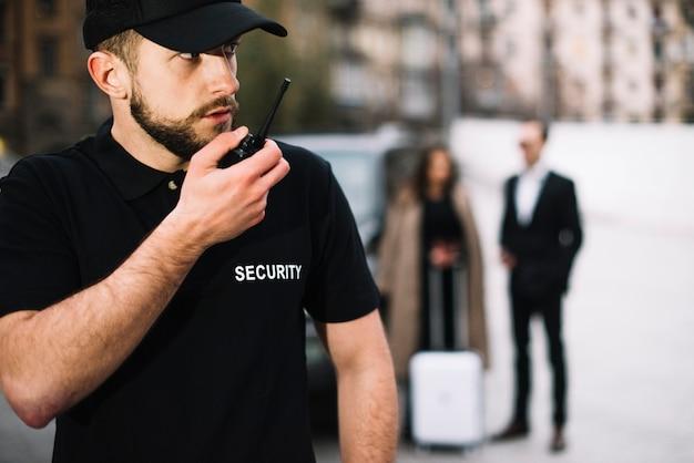 Боковой вид защиты защиты клиента Бесплатные Фотографии