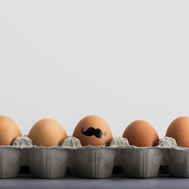 Макро букет пасхальных яиц с росписью Бесплатные Фотографии