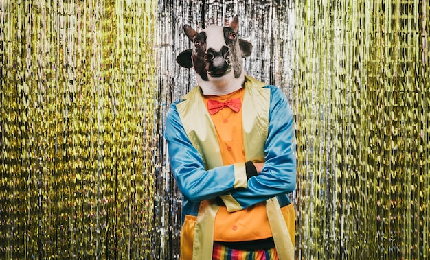 謎の変装をしたカーニバルパーティー 無料写真