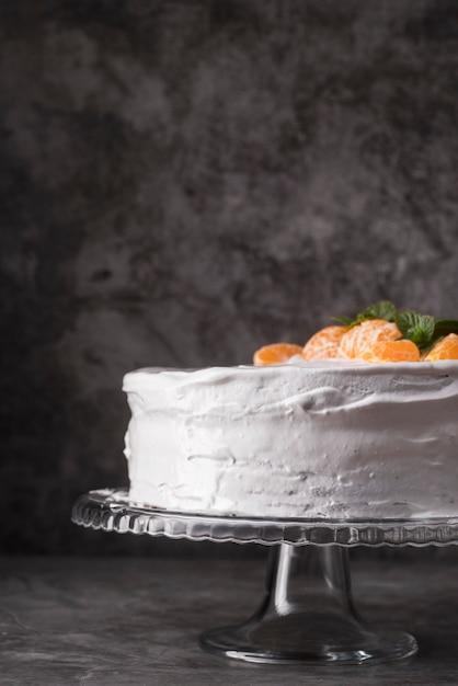 Макро вкусный торт с фруктами Бесплатные Фотографии