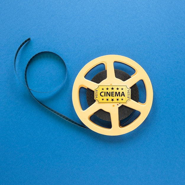 Кинолента кинолента на синем фоне Бесплатные Фотографии