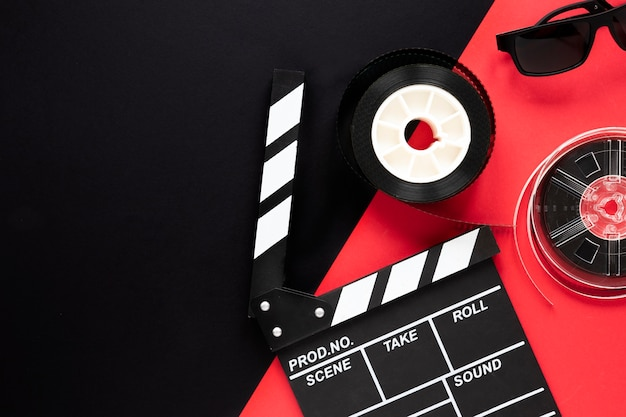 Расположение элементов фильма с копией пространства Бесплатные Фотографии