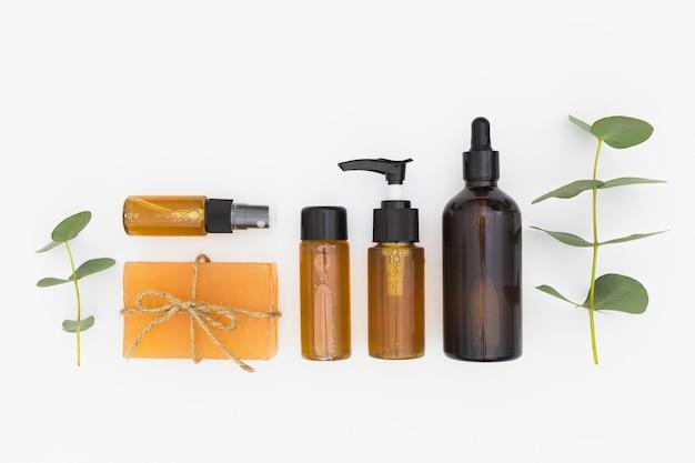 Вид сверху эфирных масел и мыла Бесплатные Фотографии