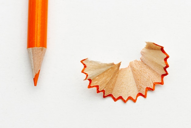 クローズアップオレンジ色の鉛筆 無料写真