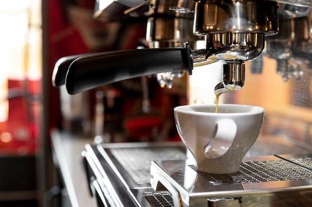 クローズアッププロのコーヒーマシン 無料写真
