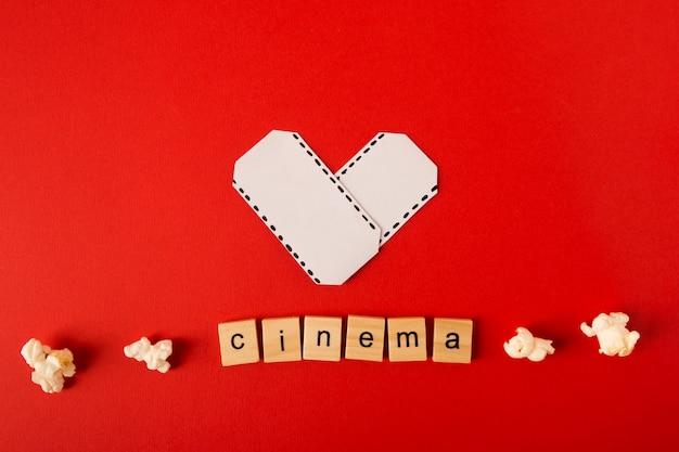 映画のレタリングと映画の配置 無料写真