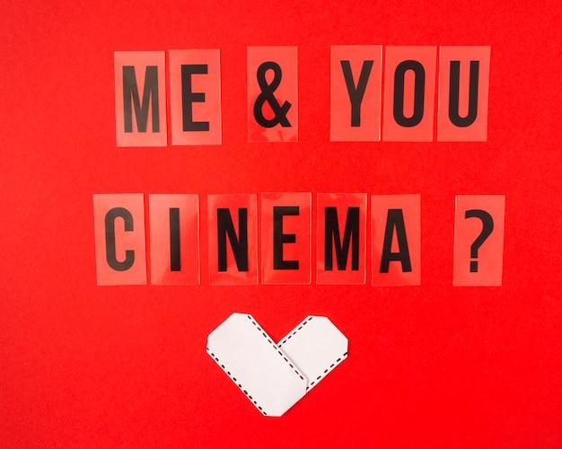 Я и ты кино надписи на красном фоне Бесплатные Фотографии