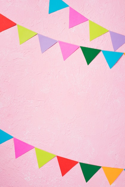 パーティーの飾りとフラットレイアウトフレーム 無料写真