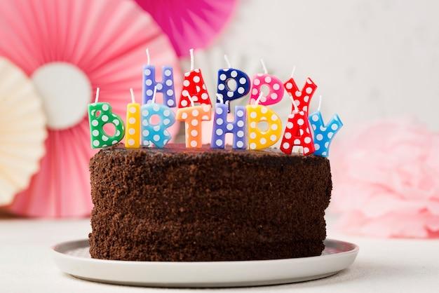 誕生日ケーキとキャンドルの品揃え 無料写真